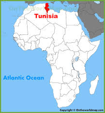 tunisia on africa map tunisia location on the africa map