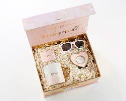 will you be my flower girl gift pink and gold will you be my bridesmaid kit my wedding favors