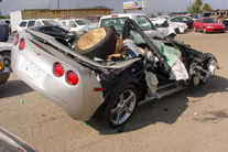 corvette crash chevrolet corvette crashes 805 pictures