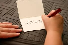 a thank you letter is imperative after an interview