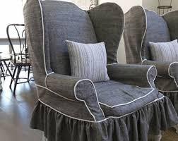 slipcover for chair chair slipcover etsy