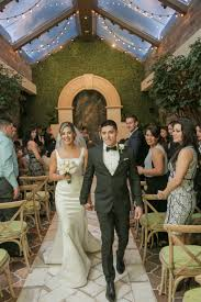 just married in las vegas garden wedding venue indoor wedding