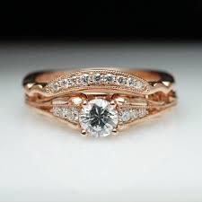 vintage style engagement rings vintage antique style diamond engagement ring u0026 matching wedding