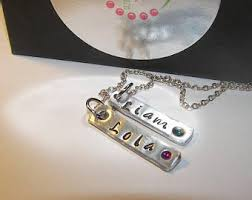 Mom Necklace With Kids Names 3 Kids Necklace Etsy