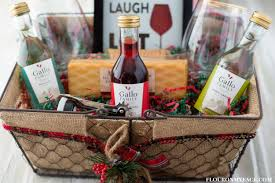 wine and cheese gift baskets diy wine gift basket ideas flour on my