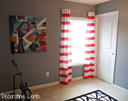 Rugby Stripe Curtains by Decorating Cents Striped Curtains In The Office
