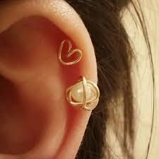 heart cartilage earring tiny heart cartilage earring gold filled earrings tiny helix