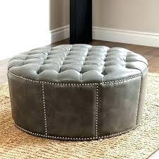 grey leather storage ottoman gray storage ottoman brokenshaker com