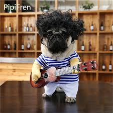 PipiFren Small Dogs Clothes Change Guitar Costume Clothing For Pets