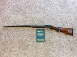 merkel model 47 e 12 gauge magnum side by side shotgun harry