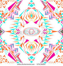 vector seamless texture tribal geometric pattern stock vector