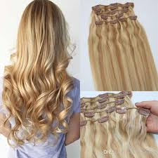 light ash blonde clip in hair extensions human hair extensions ombre color two tone 18 ash blonde piano 613
