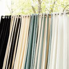 Cheap Curtains 120 Inches Long Indoor Outdoor Drapery Panel With Weighted Corners Ballard Designs