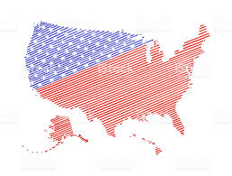 United States World Map by United States Of Americaw Map With Brush Stroke Isolated Stock