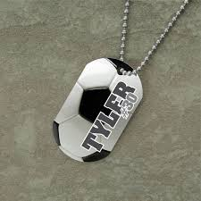 photo engraved dog tags soccer dog tag