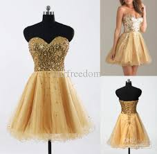in stock cheap homecoming dresses gold black blue white pink