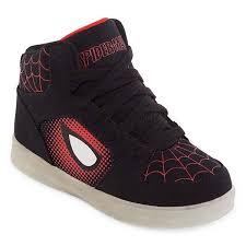 big kids light up shoes spiderman light up boys sneakers little kids big kids jcpenney
