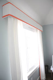 no sew trimmed drapes and pelmet box withheart