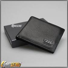 deluxe audi genuine 100 cow leather bifold wallet slim purse