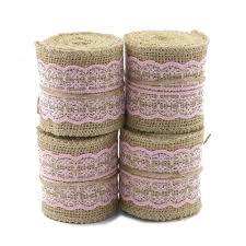 online get cheap pink burlap ribbon aliexpress com alibaba group