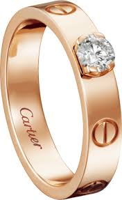 cartier rings price images Crn4250100 love solitaire pink gold diamond cartier png