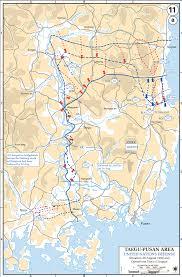 pusan on map map of the korean war august 1950