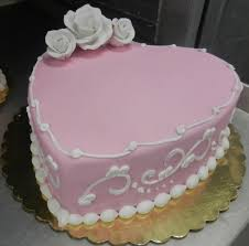 Pink And White Fondant Heart Cake Special Treats Pinterest