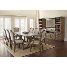 Silver Dining Room Set by Steve Silver Wy500t Wayland Dining Table In Driftwood Homeclick Com