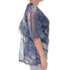 jm collection plus size sequined animal print sheer cardigan