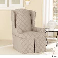 Sure Fit Recliner Slipcovers Bedroom Exciting Sure Fit Stretch Leather Wing Chair Recliner