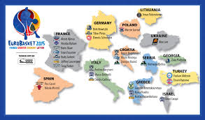 Nba Map Eurobasket 2015 Nba Players Come To Europe To Defend Their Home