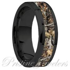 mens camo wedding bands titanium oak real forest camo ring mossy tree wedding band men