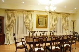 Yellow Dining Room Ideas Dining Room Window Coverings Custom Curtains Elegantdrapery Ca
