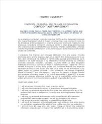 9 human resources confidentiality agreement templates u2013 free
