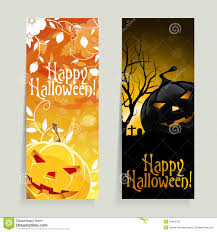 set of halloween banners royalty free stock photo image 34402765