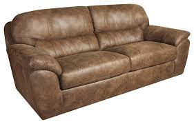 Plush Leather Sofas by Casual Faux Leather Plush Sofa By Corinthian Wolf And Gardiner
