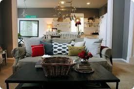 tan gray living room beige curtain exclusive wooden floor brown