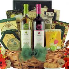 gourmet wine gift baskets beringer california collection easter duet easter wine gift basket