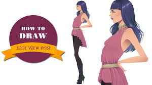 how to draw side view pose in fashion sketches youtube