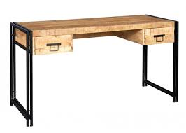 baudouin industrial desk made from reclaimed metal and wood by