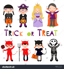 cute happy halloween clip art cute colorful halloween kids set vector stock vector 311019962