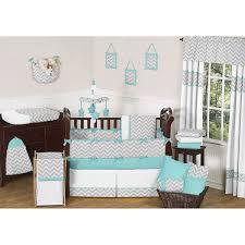 Aqua And Grey Crib Bedding Sweet Jojo Designs Grey And Turquoise Zig Zag 9 Crib Bedding