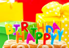 birthday cake candles happy birthday cake with multicolored candles stock photo