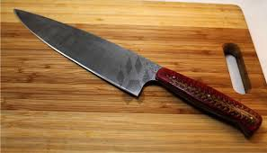 cold steel kitchen knives custom damascus steel chefs knife by iron wolf forge custommade com