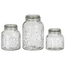 kitchen jars and canisters lace embossed glass canisters set of 3 25 liked on polyvore