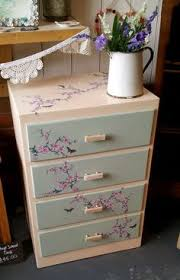 Dadds Upholstery Decoupaged Wooden Six Drawer Small Chest Of Drawers By Pattipodge