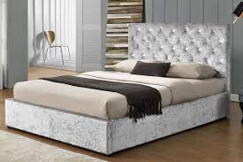 king size ottoman bed frame chatsworth crushed silver ottoman bed frame double king siz on