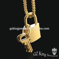 gold lock necklace images Hip hop 18k gold locket designs key lock necklace for men buy jpg