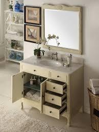 Distressed Bathroom Vanities Distressed Cream Daleville Bathroom Vanity W Mirror Hf 837wp Bs Mir