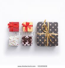 gift boxes on white background top stock photo 536236831